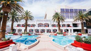 Night View Of The Pool At Drai S Beachclub Nightclub In Cromwell Las Vegas