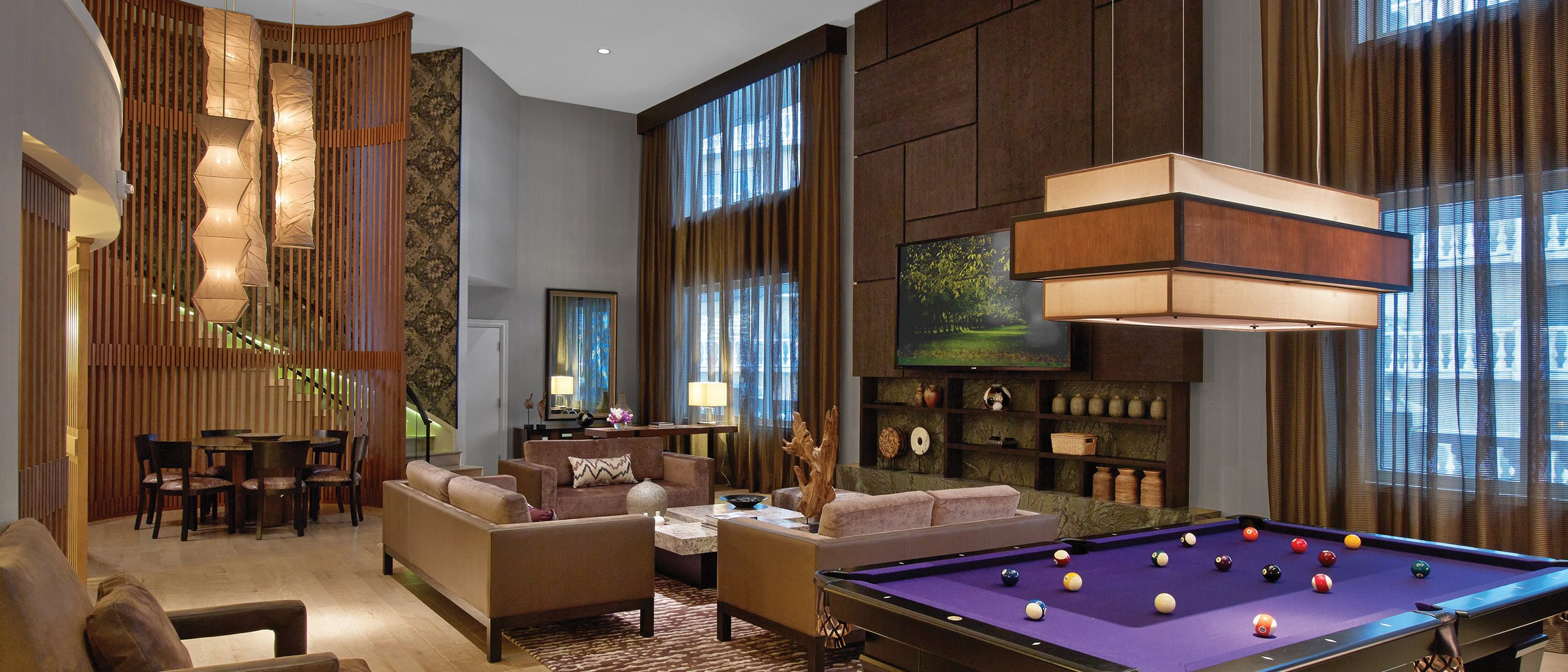 Photo Of Room Showing A Bed, Nightstand, Couch, Chair And Coffee Table Inside The Nobu Hotel At Caesars Palace