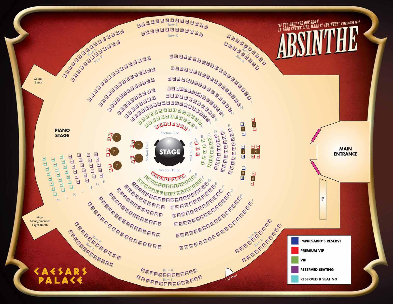 Absinthe Caesars Palace Las Vegas