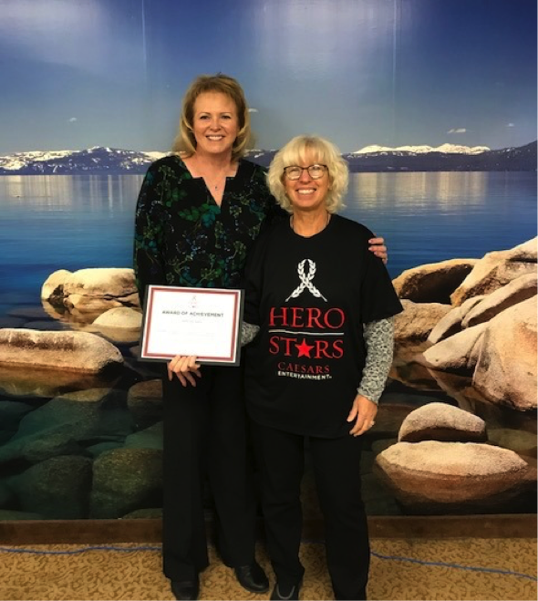 Harrah's Lake Tahoe HERO Star Jenny Haas Receives Recognition