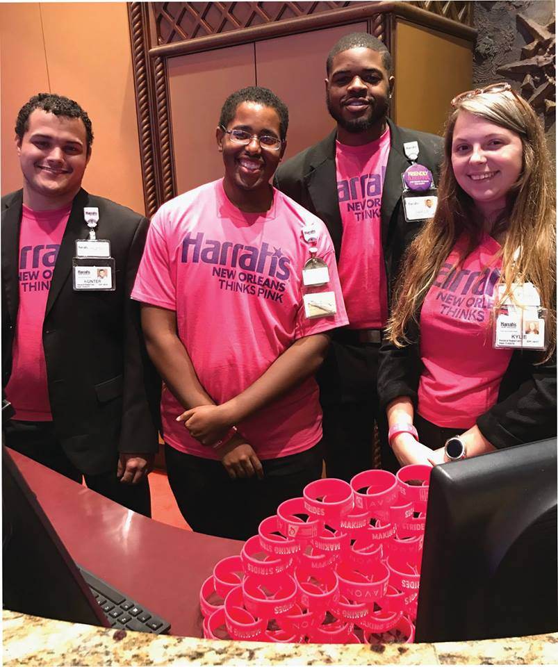 A group of Caesars HERO volunteers from Harrah's New Orleans during Breast Cancer Awareness Month