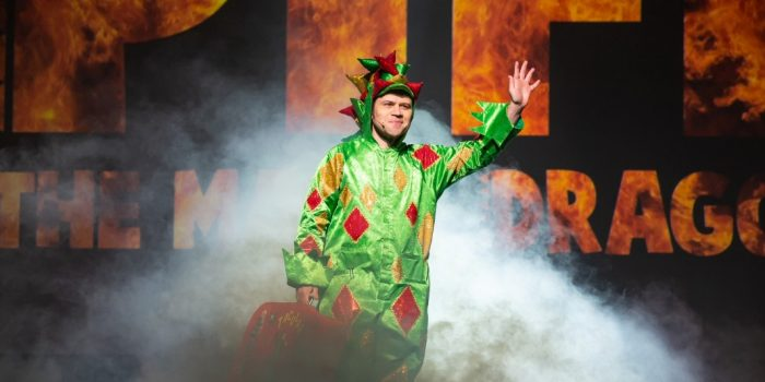 Photo Of Piff The Magic Dragon Holding His Dog At The Flamingo Las Vegas
