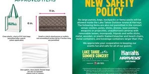 tahoe summer concert series clear bag policy