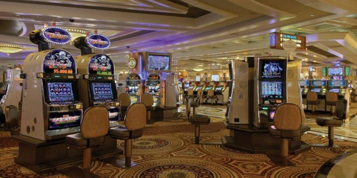 View Of Slots On Casino Floor At Caesars Atlantic City