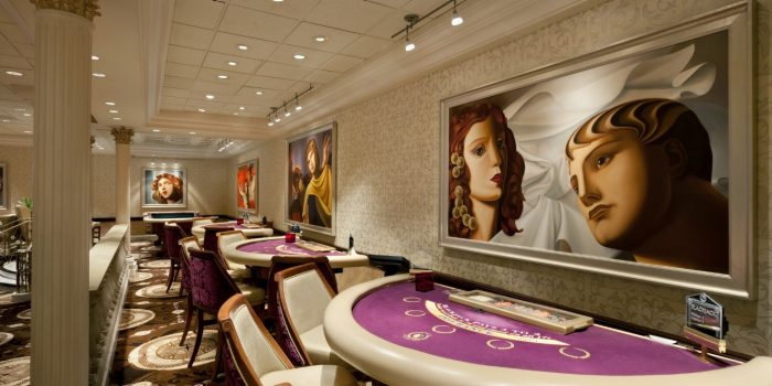 View Of Gaming Tables In Casino At Caesars Atlantic City