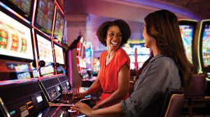 Take a chance at traditional reel, video slots or World Series of Poker machines