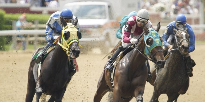 Photo Of Horses and Jockeys Racing At Harrah's Louisiana Downs
