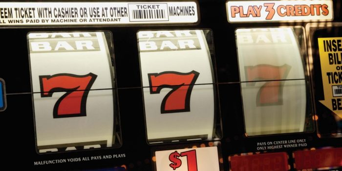 Slot Machine Displaying Triple Sevens