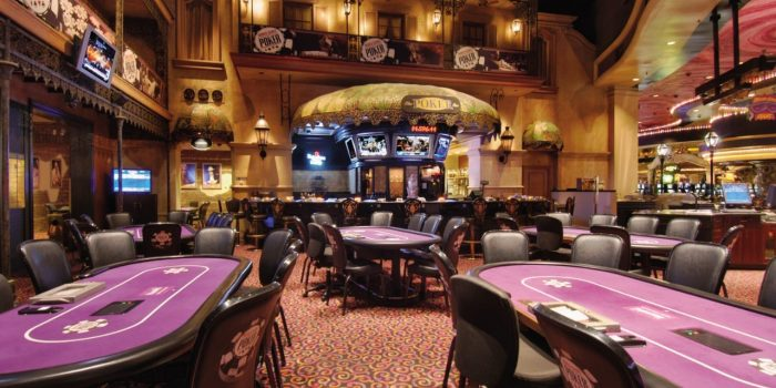 Image Of Poker Tables At Harrah's New Orleans Casino