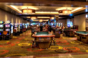 View Of Casino Floor Showing Table Games And Gaming Slots Inside The Linq  Las Vegas