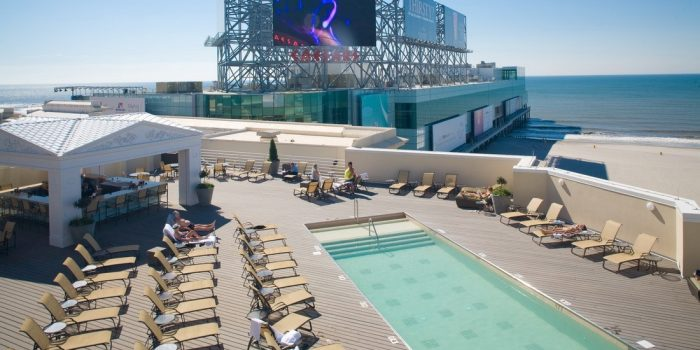 View Of Rooftop Pool At Caesar's Atlantic City