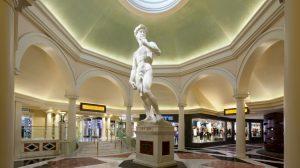 Photo of the Statue at Caesars Palace Appian Way Shops