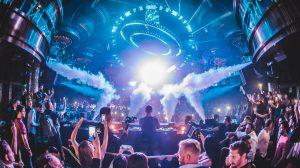 View Inside Omnia Nightclub Showing A Crowd Of Guests Dancing Inside Caesars Palace Las Vegas