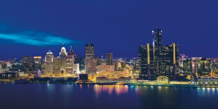 Detroit Skyline View From Caesars Windsor