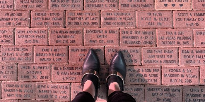 Image of a commemorative brick at Flamingo Las Vegas