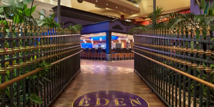 View Of Eden Lounge Entrance At Harrah's Atlantic City