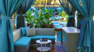 Book a cabana, a drink, and chill!