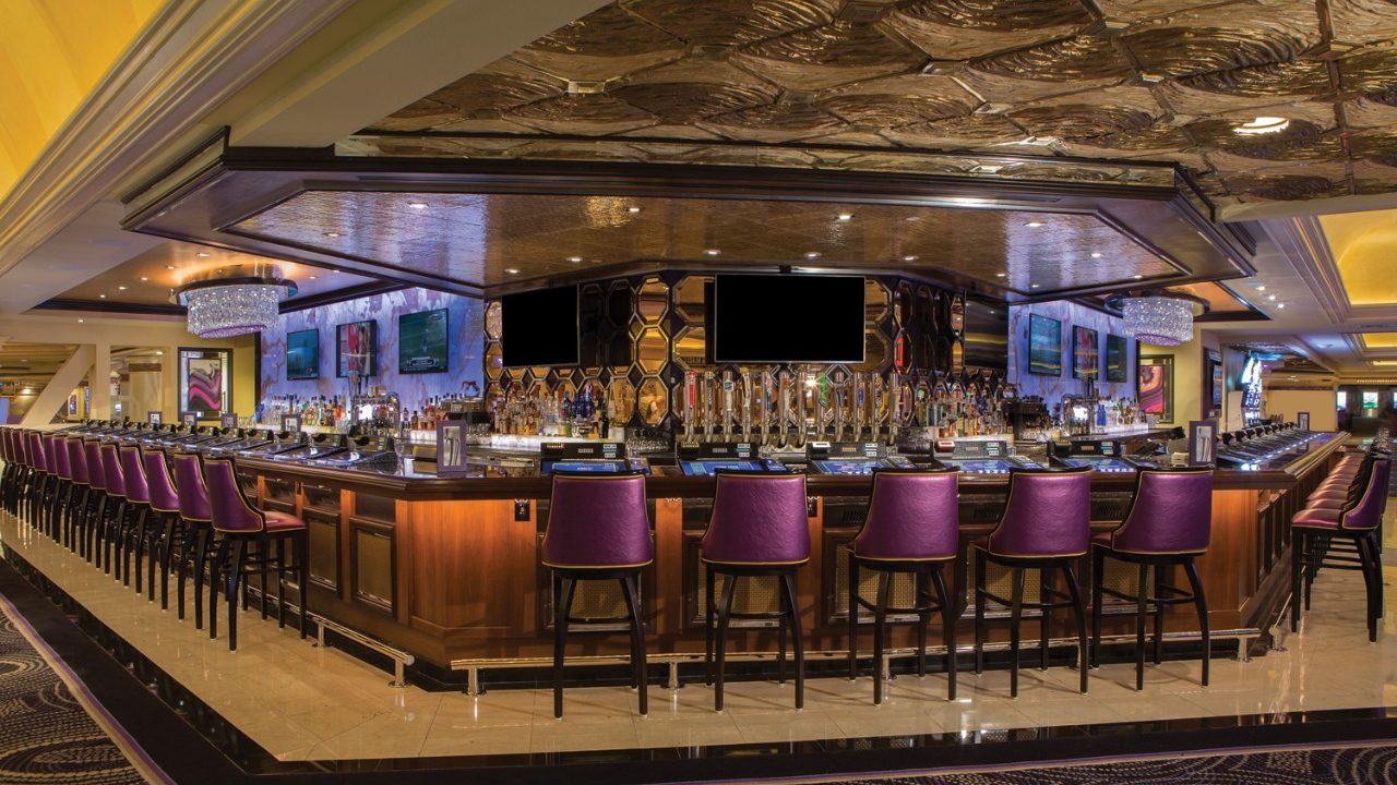 Interior View Of The Signature Bar Showing Top And Chairs Inside Harrah S Las Vegas