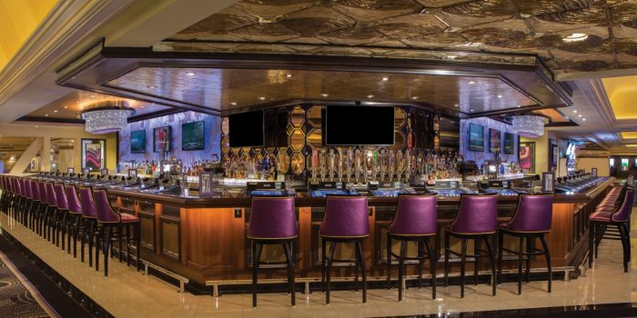 Interior View Of The Signature Bar Showing Bar Top And Bar Chairs Inside Harrah's Las Vegas