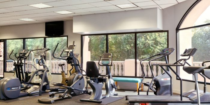 Exercise Equipment Inside Fitness Center At Harrah's Laughlin