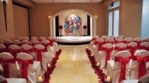 The chapel can hold up to 65 guests