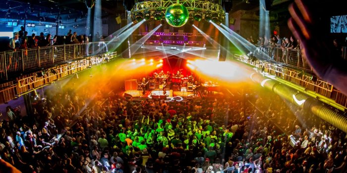 Live show at Brooklyn Bowl Las Vegas located at the LINQ Promenade