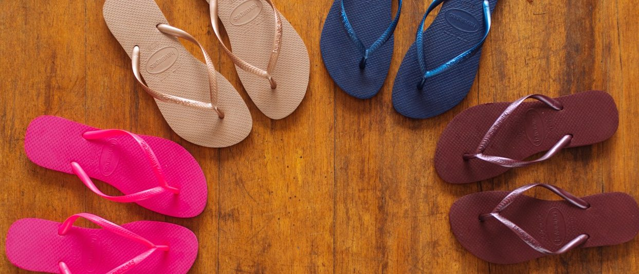 Image Of Wall Of Havaianas Slippers Inside The Havaianas Store At The Linq Promenade