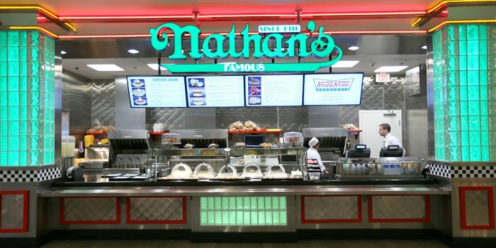View Of Counter At Nathan's Famous Hot Dogs Located At Bally's Las Vegas