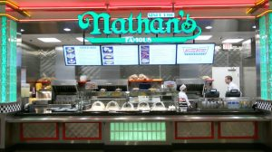 View Of Counter At Nathan S Famous Hot Dogs Located Bally Las Vegas