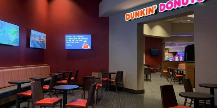View Of Dunkin' Donuts And Slot Machines Inside Harrah's Ak Chin