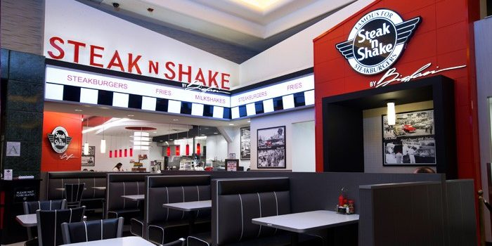 Interior Image Of Steak 'n Shake Booths And Counter Inside Harrah's At Gulf Coast