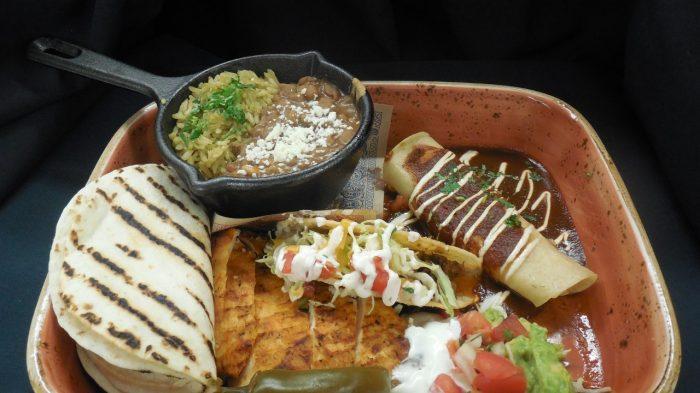 Plated Mexican Cuisine Entree At El Burro Borracho Restaurant Inside Harrah S Laughlin