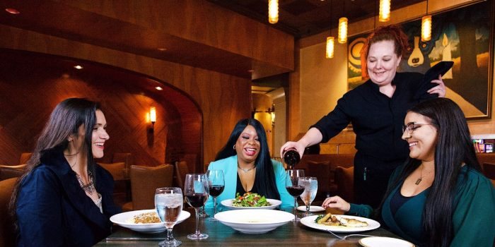 nor upscale the steakhouse bone in ribeye