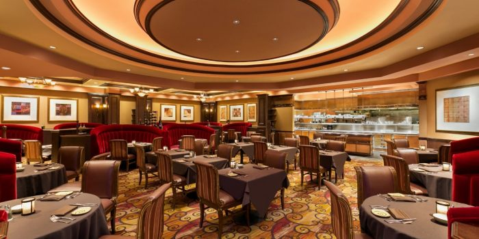 View of Jack Binion's Steakhouse Dining Area in Horseshoe Council Bluffs