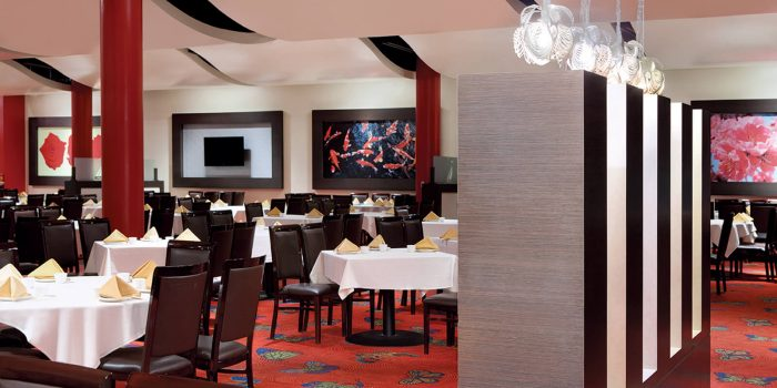 Dining area of KJ Dim Sum & Seafood at Rio All Suites Hotel and Casino