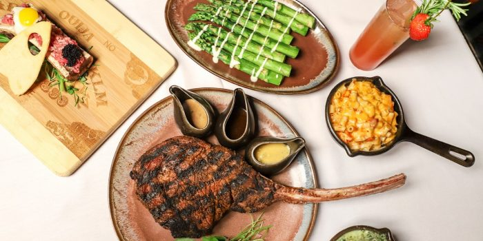Plate of Stake And Sides At VooDoo Steakhouse At The Rio In Las Vegas